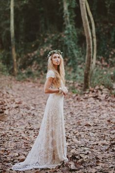 Immacle Barcelona Wedding Dress See the full collection on Bridal Musings Bohemian Bride, Bohemian Wedding Dresses, Hippie Bride, Boho Gown, Bohemian Style, Boho Hippie, Bohemian Men, European Wedding Dresses, 70s Wedding Dress