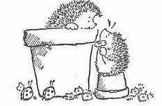 Étampe Penny Black : hérissons / Penny Black Stamp hedgehogs