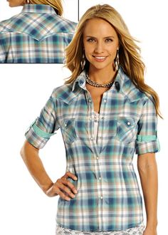 Rough Stock Amesbury Ombre Plaid: Sierra Western Wear #Rough Stock #Cowgirl Fashion #Cowgirl Western Wear #Western Wear #Sierra Western Wear