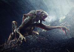 Conceptual Art | Concept Art: Sewer Dwelling Monster