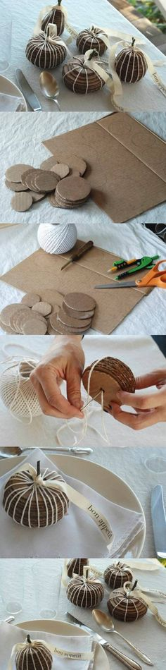 Fruit de bricolage de cartons