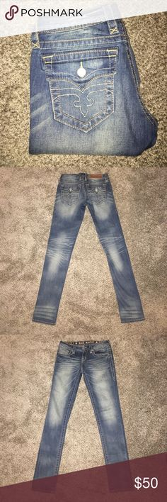 Rock Revival Jessica Skinny Size 27 Worn once. Light/medium wash skinny jeans. Rock Revival Jeans Skinny