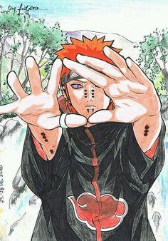 Pein from anime/manga Naruto. Naruto Shippuden, Yahiko Naruto, Boruto, Konan, Madara Uchiha, Naruto Art, Anime Naruto, Anime Guys, Akatsuki