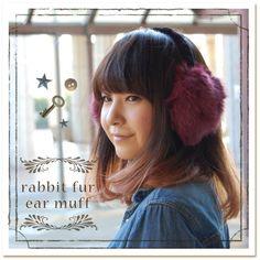 beautiful Earmuffs, Rabbit Fur, Xmas, Beautiful, Christmas, Navidad, Noel, Natal, Ear Warmers