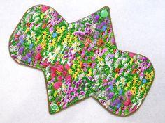 "8"" Regular - Wildflowers - Reusable Cloth Menstrual Pad (8MC)"