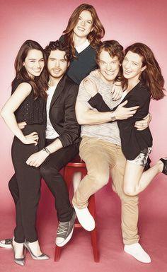 Cast mates of Game of Thrones. Emilia Clark: Daenerys, Richard Madden: Robb, Alfie Allen: Theon, Michelle Fairley: Catelyn, Rose Leslie: Ygritte.