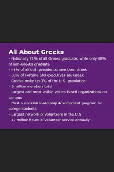 Proud to be Greek--I think this is about fraternities, not the people of Greece.