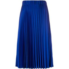 P.A.R.O.S.H. mid-length pleated skirt (€280) ❤ liked on Polyvore featuring skirts, blue, mid length skirts, blue skirt, pleated skirt, blue pleated skirt and knee length pleated skirt