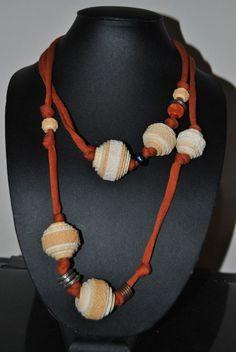 collana, carta, parati, regalo, riciclo, uso, persoanlizzata, gioiello