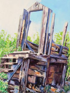 Acrylic, 24x18 inches, 2020 Available The outhouse is an icon of the North. This particular one is from the former Wernecke Townsite near Keno City in Yukon. Maybe an odd subject for a painting, but it caught my attention somehow.... #art #artwork #artoftheday #wilderness #mining #mininghistory #outhouse #kenocity #kenohill #yukon #travelyukon #canada #canadianart #scottishartist Canadian Art, Art Day, Wilderness, Stuff To Do, History, City, Gallery, Artist, Artwork