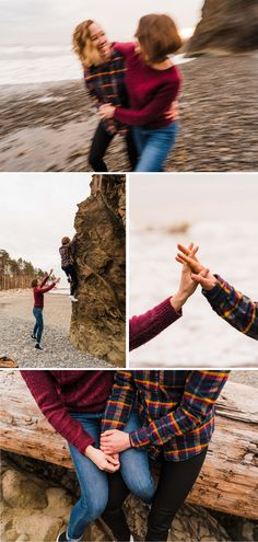 Beach Engagement Photos, Engagement Shoots, National Park Pass, Surprise Proposal, Tide Pools, Pink Sunset, Engagement Inspiration, What To Pack, Dog Friends