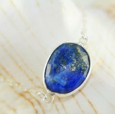 Lapis Lazuli Bracelet  Bezel Set Gemstone Bracelet, Unique Bracelet, Gift For Her, Sterling Silver Bracelet, Natural, Mothers Day, Birthday