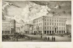 Albany Exchange and Museum, Broadway & State Streets, Albany, NY 1868 - Albany Institute of History and Art