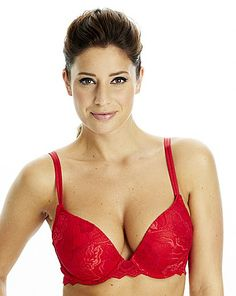 After Eden Red Plunge Bra www.simplybe.co.uk