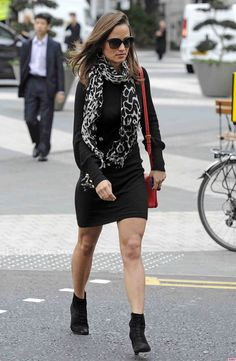 Pippa Middleton Shows Leg in London