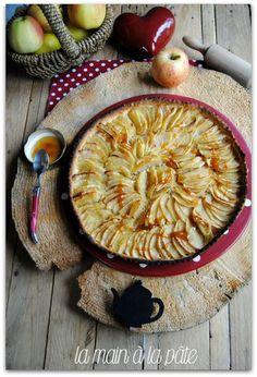 tarte aux pommes et caramel au beurre salé