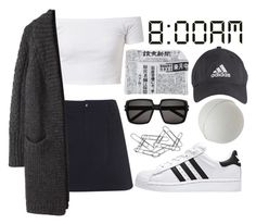 """bomb"" by chrissy-greenland ❤ liked on Polyvore featuring A.P.C., Y's by Yohji Yamamoto, adidas, Fornasetti, Yves Saint Laurent and Home Decorators Collection"