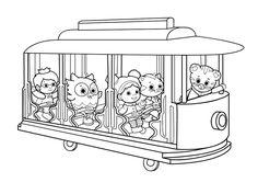 Daniel Tigers Neighborhood Trolley Coloring Page