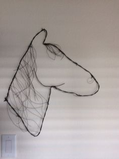 Barbed wire horse #barbedwire #decor #horse #art