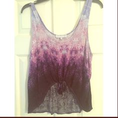 Daydreamer LA Purple tie top Daydreamer LA top for urban outfitters, size large. Tie up Urban Outfitters Tops Crop Tops