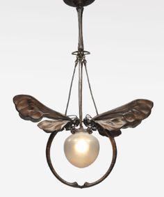 european art nouveau chandelier ||| lighting ||| sotheby's n09238lot7nyhyen