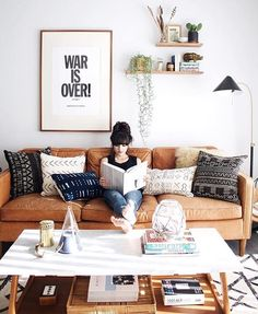 "West Elm Dallas on Instagram: ""We absolutely love @newdarlings' down right dreamy living space! ✨ Featuring our Hamilton 3 Seater Sofa, Reeves Mid-Century Rectangular Coffee Table, Torres Wool Kilim Rug & Mid-Century Task Floor Lamp... and a little birdy told me that some of these items might be on promotion! *wink wink*  We are BURSTING with some pre- Fourth of July savings over here, come on in and shop before it's all gone!  #WestElm #Interiors #Modern #Home #Esse..."