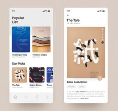Hi there, glad to show you my new work - this is a book reading app concept, I tried to keep it clean & simple. Best Picture For simple App Design For Your Taste You are loo Ui Design Mobile, App Ui Design, Interface Design, User Interface, Email Design, Library App, Book Of Circus, Simple App, This Is A Book