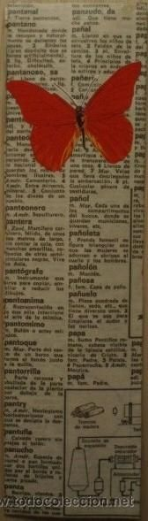 Marcapáginas-Punto de Libro-Bookmark/Estilo Vintage Mariposas - Elaboración artesanal propia