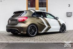 Mercedes AMG A Klasse Bond Gold Folierung KW Gewindefahrwerk Tuning 13 190x127 photo