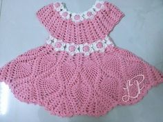 Crochet dress| How to crochet an easy shell stitch baby / girl's dress for beginners 10 - YouTube