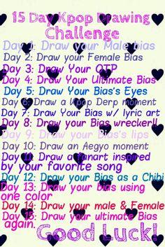 My kpop drawing challenge