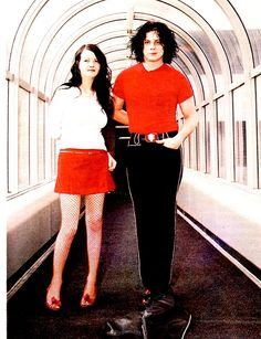 Jack and Meg White The White Stripes, Red And White, Jack White Meg White, Megan White, White Strips, Shades Of White, White Style, Celebrity Photos, Marie
