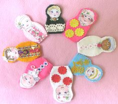 Three Finger Puppets, Felt Waldorf Toy, Puppet People