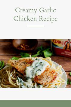 Creamy Garlic Chicken Recipe - #chicken #creamy #garlic #recipe - #GochujangRecipe Whole 30 Chicken Recipes, Breaded Chicken Recipes, Chicken Salad Recipes, Whole Food Recipes, Healthy Recipes, Recipe Chicken, Tandori Chicken