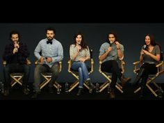 The Musketeers Cast Interview with Luke Pasqualino, Santiago Cabrera, Howard Charles, Maimie McCoy - YouTube