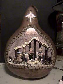 Nativity Gourd, loveeeeeee thisssss