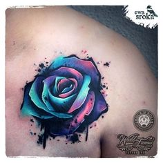 Unique Rose Tattoo by Ewa Sroka Warsaw, Poland ❤ liked on Polyvore featuring accessories, body art, tattoos and tattoos and scares