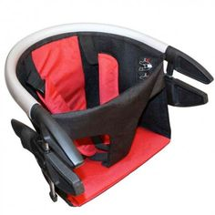 Lobster Red High Chair - the lightest, fastest deploying, flat packing portable high chair - www.aldeababy.com