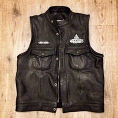 Lords Custom Studded Cross Leather Riding Vest