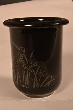 PP-Vase m/sølvrelieff Sign.NG H:9cm.