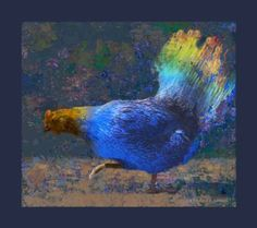 "Saatchi Art Artist Robert Semans; Photography, ""Psychodelic Blue Chicken"" #art"