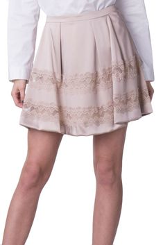 626e130c95 PATRIZIA PEPE Satin Mini Flare Skirt Size 44 / M Lace Trim Pleated #fashion  #clothing #shoes #accessories #womensclothing #skirts (ebay link)