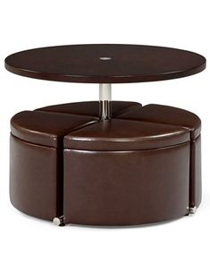 Neptune Coffee Table With Storage Ottomans | Macys.com