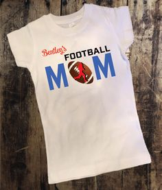 Personalized Football Mom Shirt
