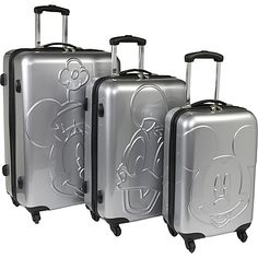 Disney Collection by Heys USA Mickey & Friends Embossed Luggage