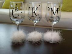 Wine Glasses Used in a Creative Way - Do It Yourself