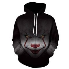 Hoodies & Sweatshirts New Movie It Pennywise Clown Stephen King 1990 2017 Horror Movie Hoodie Sweatshirt Cosplay Sportswear Tracksuit Ideal Gift For All Occasions