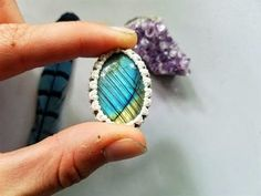 Macrame Tutorial-How to Wrap a Cabochon - YouTube