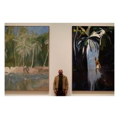 Artist Peter Doig visiting his Edinburgh Art Festival 2013 exhibition. Peter Doig, Abstract Landscape, Landscape Paintings, Abstract Art, Art Festival, Art Auction, Contemporary Paintings, Artist At Work, Painting Inspiration
