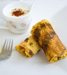 Besan Cheela a Savory Chickpea Flour Crepes - My Tasty Curry